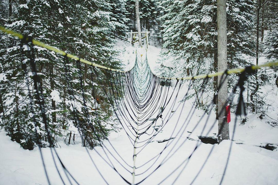 Wire bridge at Plein Air Lanaudia