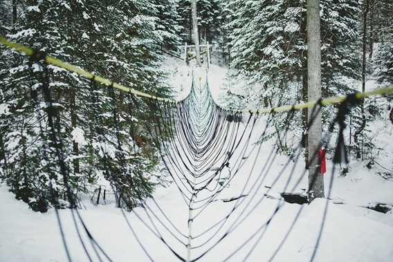 Pont de corde à Plein Air Lanaudia