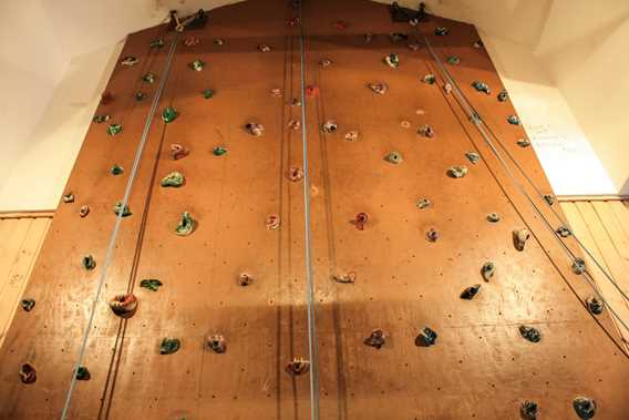 Indoor climbing wall at Plein Air Lanaudia vacations centre