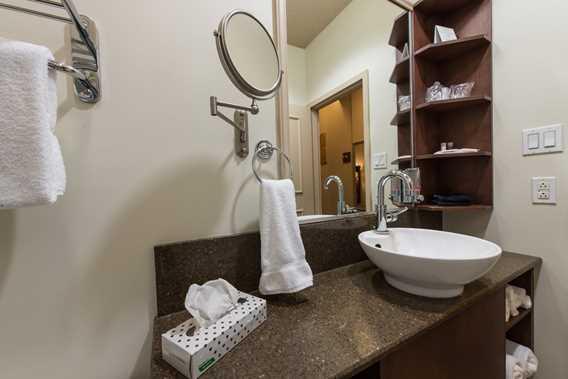 Bathroom in a room at the Days Inn