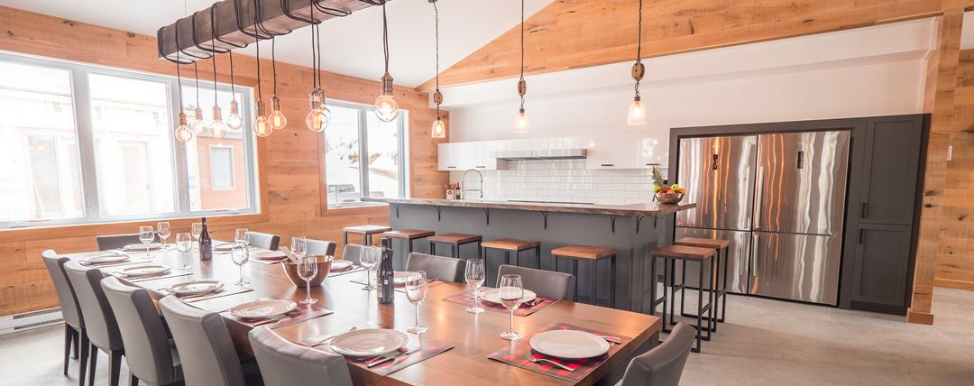 Salle à manger des Chalets au Lac Taureau