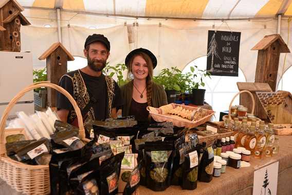 Exhibitors at the authentic public market of Notre-Dame-de-la-Merci