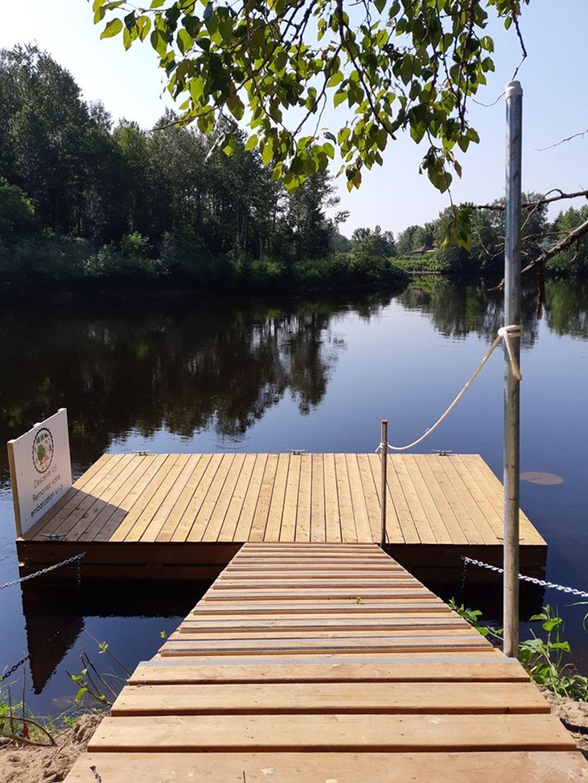 Dock of the descent Rivière Matawin