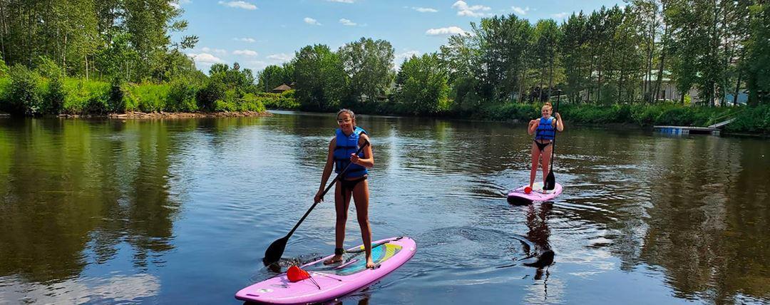 Paddle board on Lac Taureau