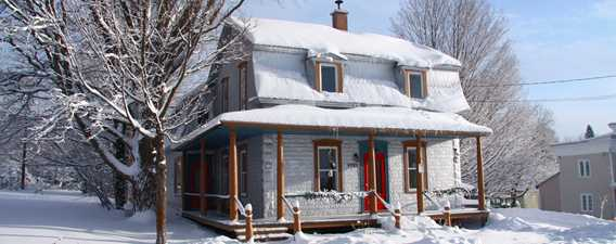 Chêne et capucine bed and breakfast in winter