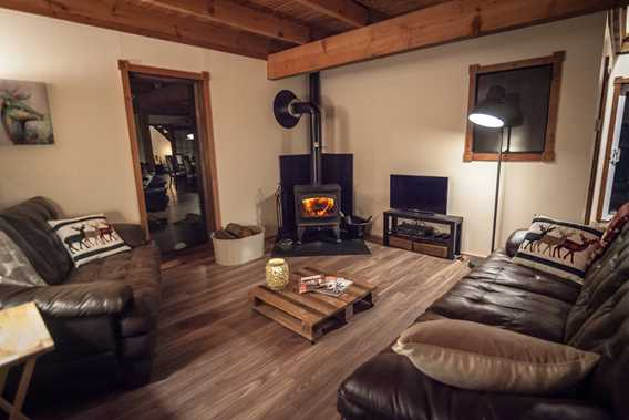 Living room of Chic Chalet des Chutes