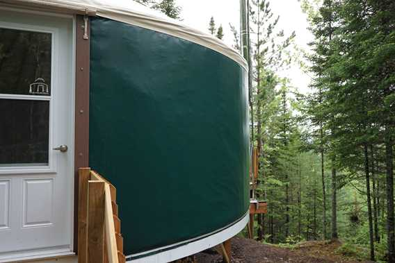 Outdoor of the yurt at Sow
