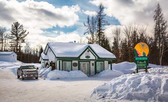Centre plein air l'Étincelle en hiver