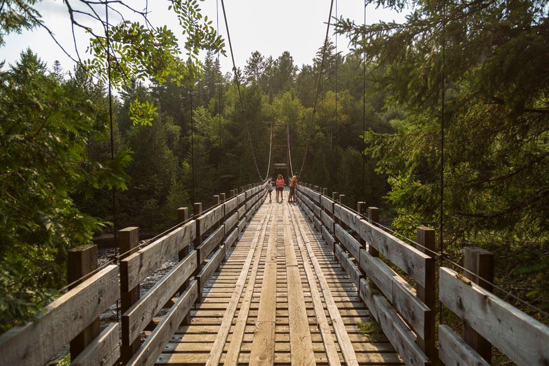 Pont parc régional de la forêt Ouareau