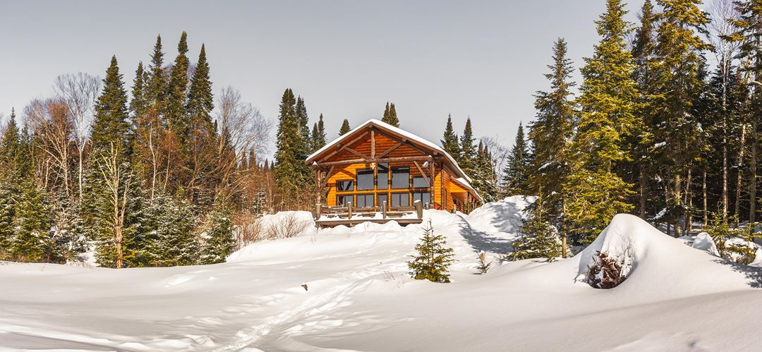 Pourvoirie Saint-Zénon in winter
