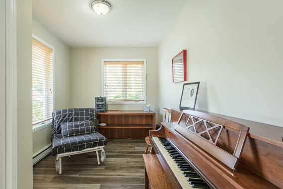 Piano room at Chalet Imasco
