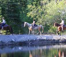 Horseback riding and getaway