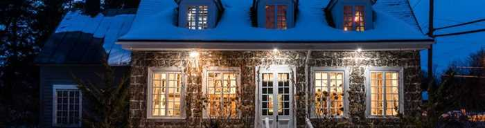 Rear facade of Maison Antoine-Lacombe in winter