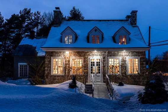 Façade arrière de la Maison Antoine-Lacombe  en hiver