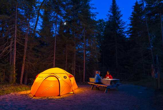 Camping at Parc national du Mont-Tremblant