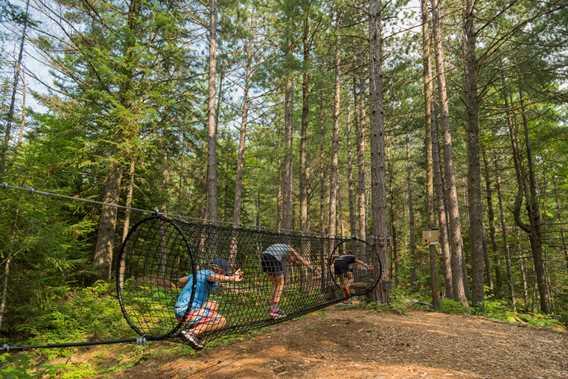 Jeux d'hébertisme Parc régional de la Forêt Ouareau