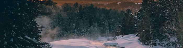 Parc des chutes Monte-à-Peine-et-des-dalles en hiver
