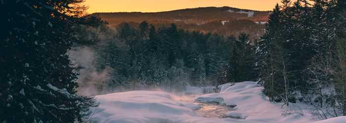Parc des chutes Monte-à-Peine-et-des-dalles in winter