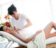 Massage at the Auberge de la Montagne Coupée