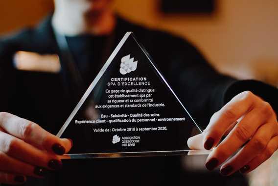 Certificat d'excellence au Spa Santé Corps et Âme