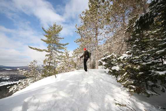 Snowshoe in Sentier National