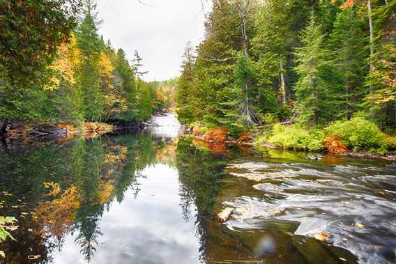 Parc régional des chutes du Calvaire en automne