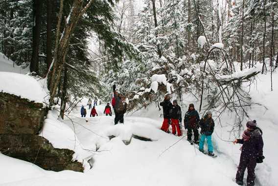 Activités de groupe en hiver chez Kinadapt