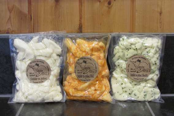 Cheese curds of Ferme Vallée Verte