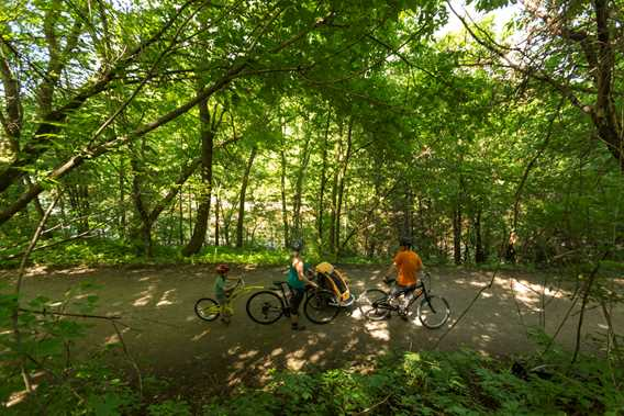 Bike trail of the MRC de Joliette
