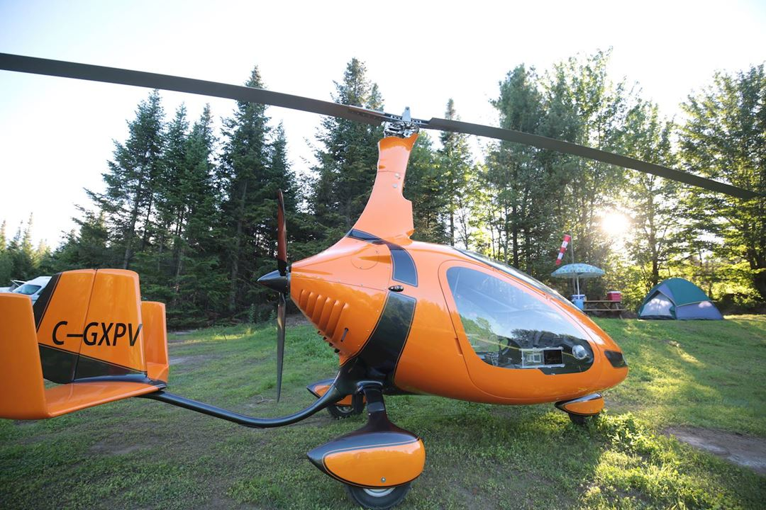 Camping at Recreational flying center ULM Québec