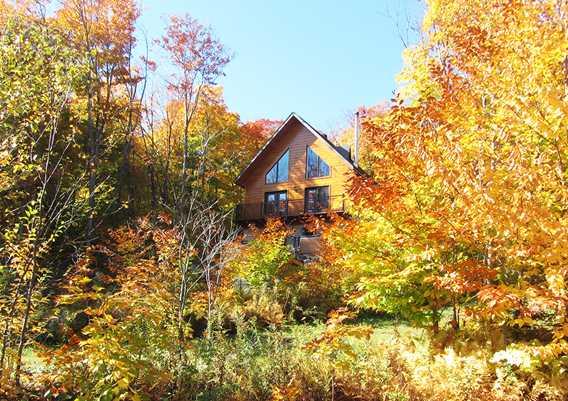 Chalets Évasion en automne