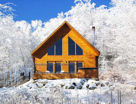 Winter at Chalets Évasion