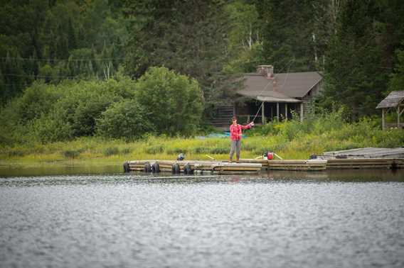 Fishing at Pourvoirie Mastigouche