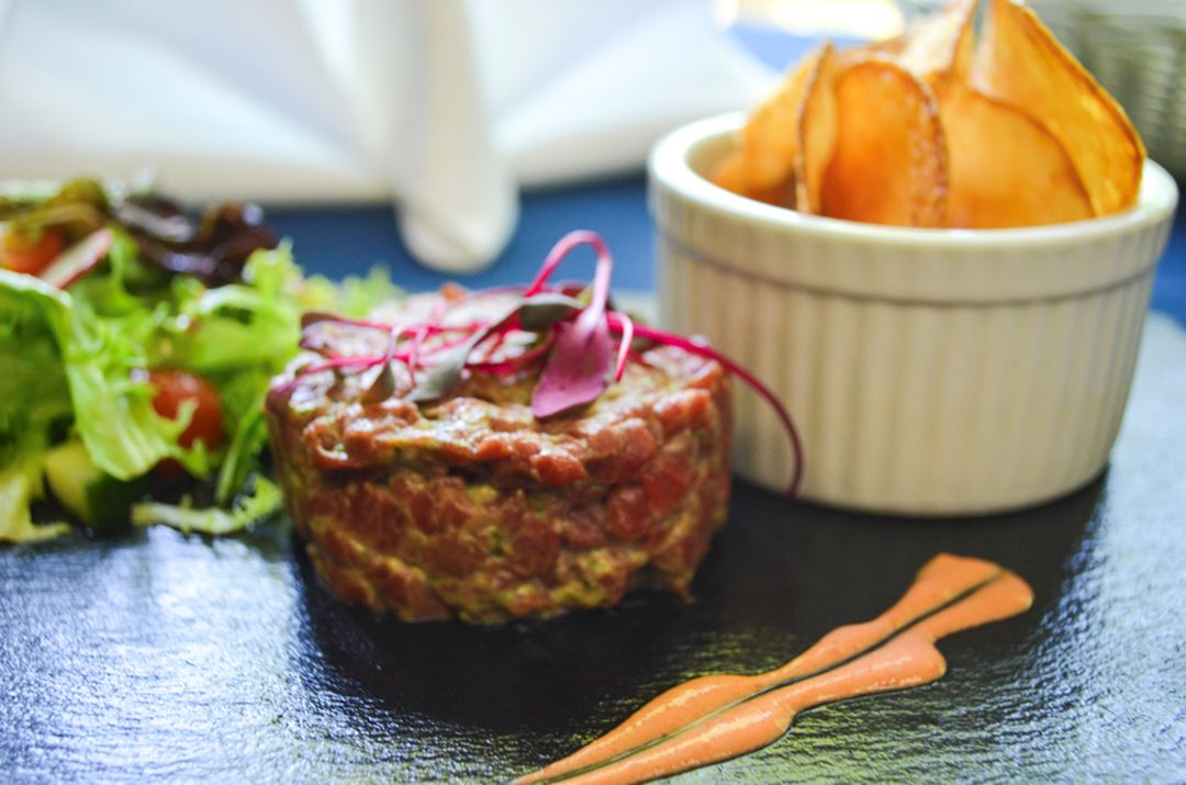 Tartare restaurant Auberge de la Montagne Coupée