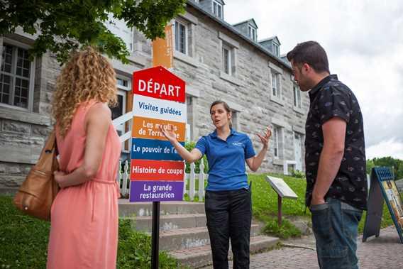 Visite guidée et commentée à l'Île-des-Moulins