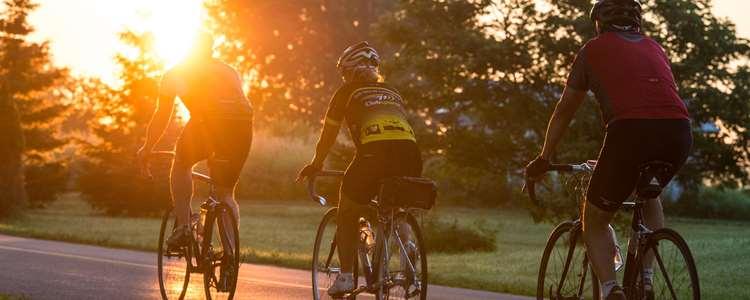 Cycling on the Chemin du Roy