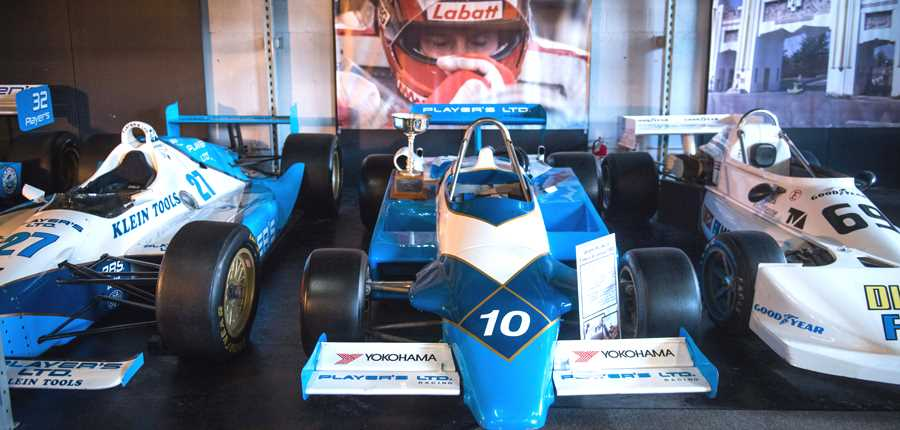Exposition of cars at Musee Gilles-Villeneuve