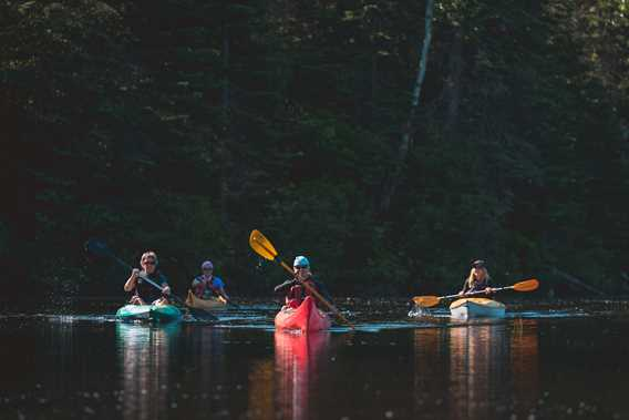 Kayak à Saint-Donat