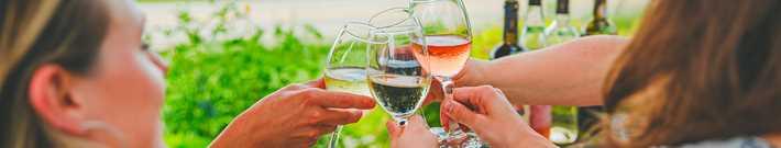 Femmes qui prennent un verre de vin au Vignoble Saint-Gabriel