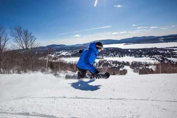 Ski sur Mont-Garceau à Saint-Donat