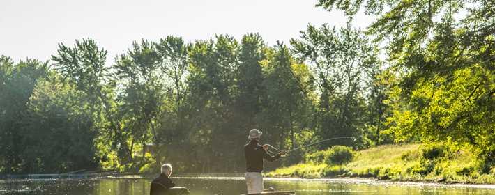 Faire de la pêche à la Pourvoirie du Lac Saint-Pierre
