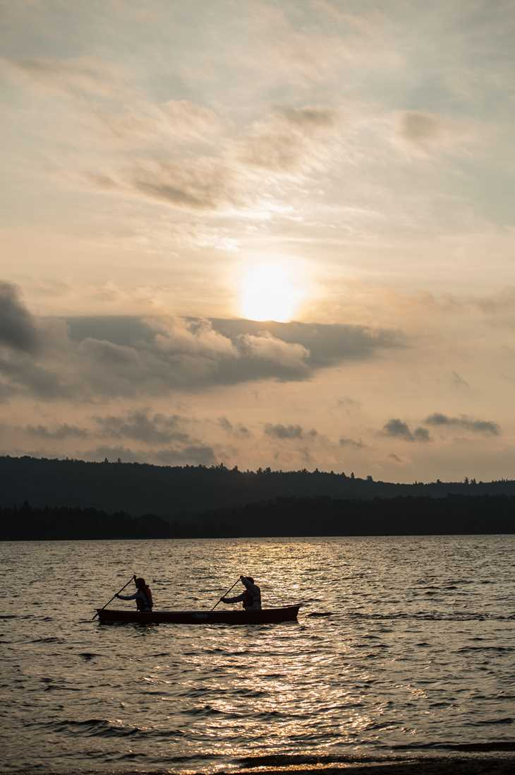 Canoeing at Lac Taureau
