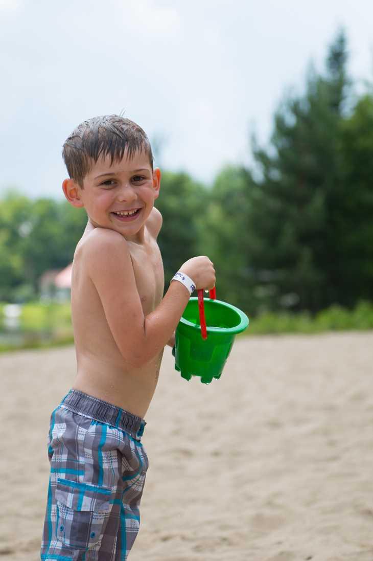 Child having fun at Rawdon beach
