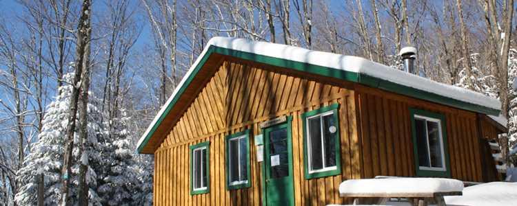 A refuge at Regional Park of Forêt Ouareau