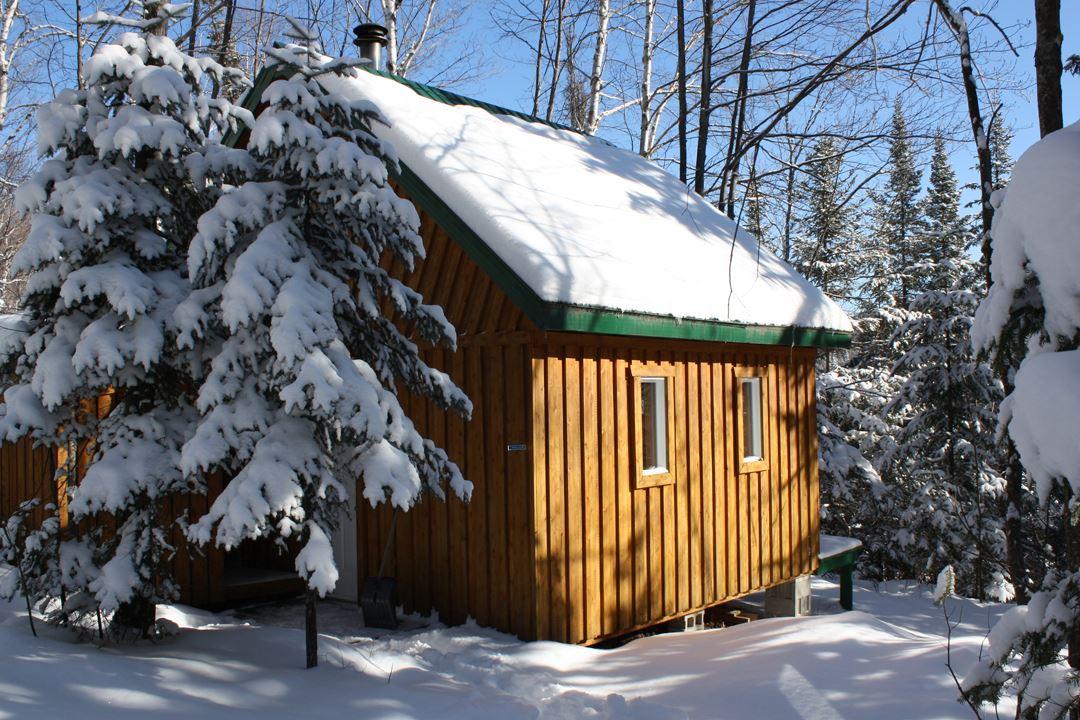 Un refuge au parc régional de la Forêt Ouareau