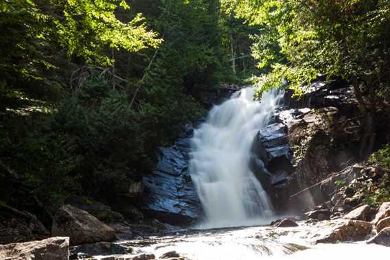 Les chutes d'eau sur le Sentier Swaggin