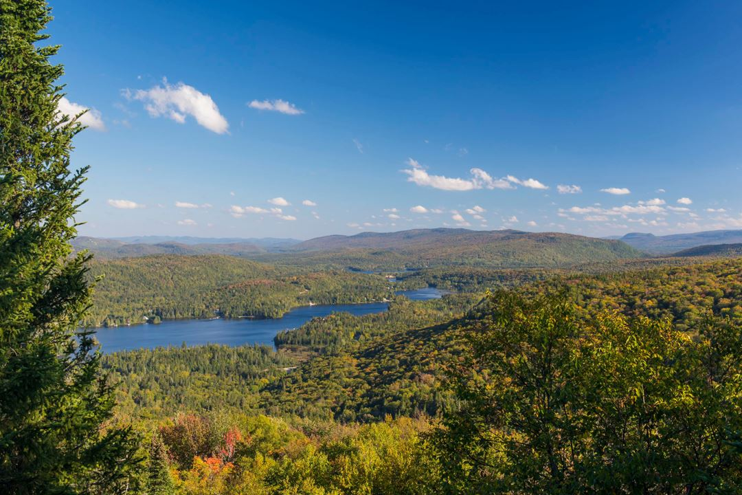 Total view at the top of the trail l'Envol at Mont-Tremblant National Park