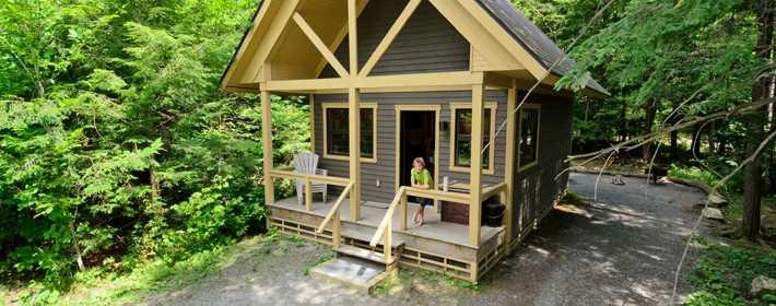A refuge at parc national du Mont-Tremblant