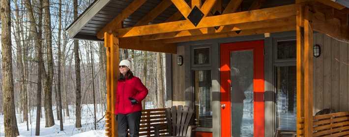 Un refuge dans le parc national du Mont-Tremblant
