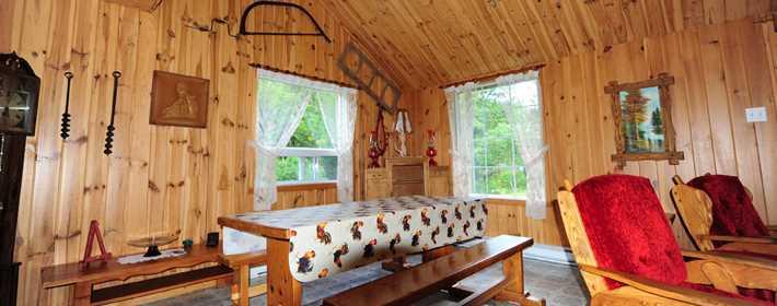 Inside a cottage at Chalets Beausoleil
